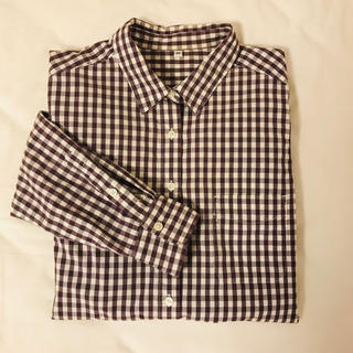 MUJI (無印良品) - 無印良品MUJIコットンチェックシャツ