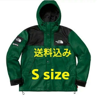 シュプリーム(Supreme)のSupreme TNF Leather Mountain Parka green(マウンテンパーカー)