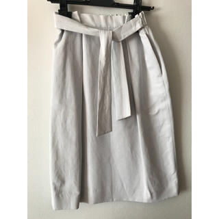 デプレ(DES PRES)のDES PRES リネンレーヨンツイル タックギャザースカート(ひざ丈スカート)