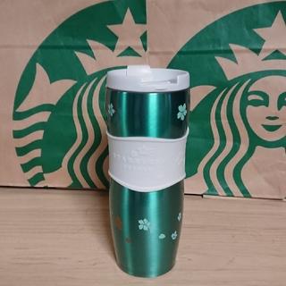 Starbucks Coffee - STARBUCKSステンレスタンブラー グリーン桜