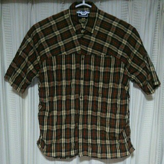 シースウェイ(seesway)のseesway 半袖 チェックシャツ Lサイズ シースウェイ ドメスティック 服(シャツ)