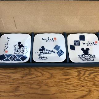 ディズニー(Disney)のmickeymouse 角小皿 3枚セット ミッキー ディズニー(食器)