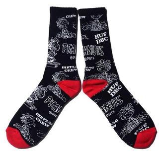スヌーピー(SNOOPY)の新品 HUF Pigpen DBC Crew Socks 黒 スヌーピー ハフ(ソックス)