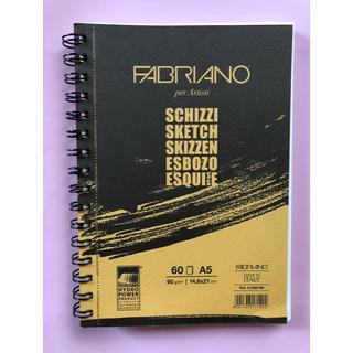 スケッチブック  A5サイズ イタリア製(スケッチブック/用紙)