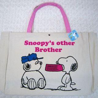 スヌーピー(SNOOPY)の【最終特価】スヌーピー★トートバッグ★ビッグサイズ(Brother)帆布トート(トートバッグ)
