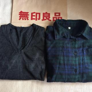 ムジルシリョウヒン(MUJI (無印良品))の無印良品 まとめ売り ニット チェックシャツ S(シャツ/ブラウス(長袖/七分))