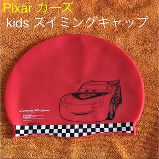 ディズニー(Disney)のカーズ スイミングキャップ 赤 プール帽子(水着)