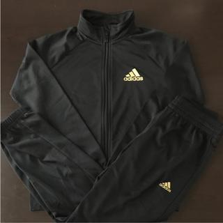 adidas - 140㎝ adidas アディダス キッズ ジャージ上下セット ブラック