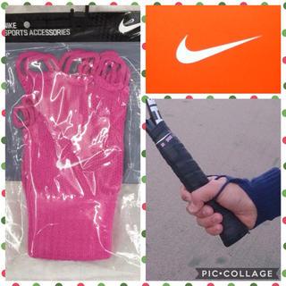 ナイキ(NIKE)の希少ピンク✨NIKE 手甲 手袋 テニスラケット バトミントン バスケットボール(その他)