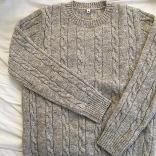 ムジルシリョウヒン(MUJI (無印良品))の無印良品 シェットランドウール ケーブル編み セーター(ニット/セーター)