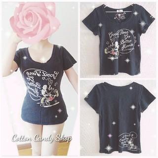 シマムラ(しまむら)の꒰⑅ 着画 黒 ミッキー Tシャツ ⑅꒱(Tシャツ(半袖/袖なし))