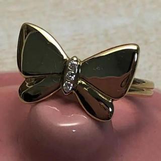 ハナエモリ(HANAE MORI)の☆超美品☆ハナエモリ 蝶々 K18YG ダイヤリング(リング(指輪))