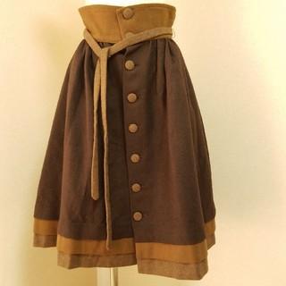 ジェーンマープル(JaneMarple)のJane Marple ボタンスカート(ひざ丈スカート)