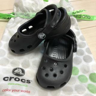 クロックス(crocs)のキッズクロックス ブラック crocs サンダル 14-15cm(サンダル)