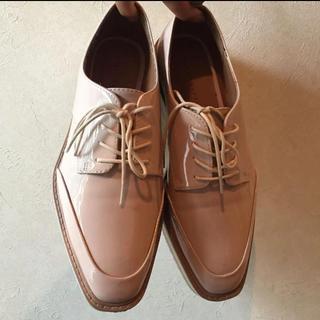 ザラ(ZARA)のザラ フラットシューズ ベビーピンク 37(ローファー/革靴)