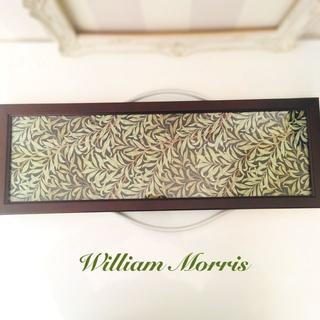 ファブリックパネル ウィリアムモリス 柳の枝 ブラック インテリア小物(その他)
