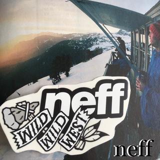 ネフ(Neff)のNEFFネフUS限定 surf非売品キャラロゴスクエアステッカー(アクセサリー)