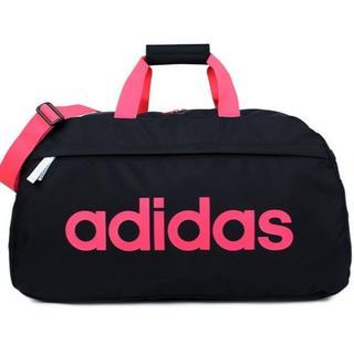 アディダス(adidas)の【限定色】アディダス ボストンバッグ60cm ブラック×ピンク(ボストンバッグ)