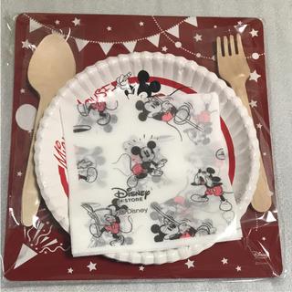 ディズニー(Disney)のミッキーオリジナルペーパーテーブルウェアセット(ノベルティグッズ)