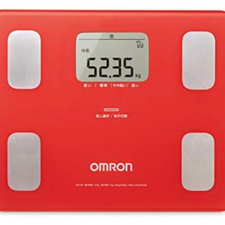 オムロン 体重体組成計カラダスキャン HBF-251-R(レッド)(体重計/体脂肪計)