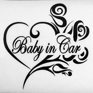 ステッカー Baby in Car ブラック(その他)