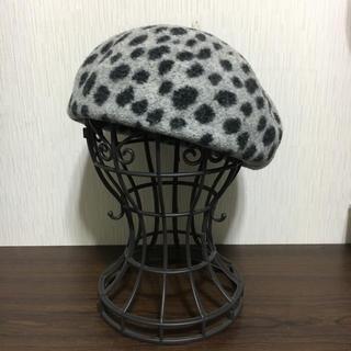 カオリノモリ(カオリノモリ)のカオリノモリ/アニマル柄 ベレー帽(ハンチング/ベレー帽)
