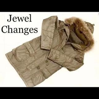 ジュエルチェンジズ(Jewel Changes)の【Jewel Changes】カーキ モッズコート  36サイズ(モッズコート)