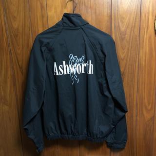 アシュワース(Ashworth)のASHWORTH アシュワース 男女兼用 Mサイズ ブラックカラーナイロン正規品(ナイロンジャケット)