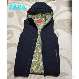 ザラ(ZARA)のメンズZARA中綿フード付きベストジャケット(ブルゾン)