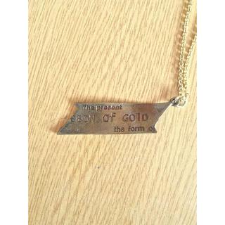 アトリエドゥサボン(l'atelier du savon)のリボンネックレス 真鍮 KaZa(ネックレス)