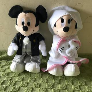 ディズニー(Disney)の【美品】ウェディングドール✨ ミッキー&ミニーぬいぐるみ✨結婚式✨2次会(その他)
