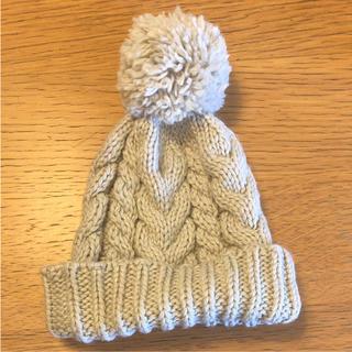 エイチアンドエム(H&M)のニット帽 ポンポン H&M グレー(ニット帽/ビーニー)
