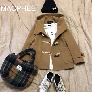 マカフィー(MACPHEE)の形がキレイ♫ マカフィー ショート丈 ダッフルコート キャメル  サイズ38 (ダッフルコート)