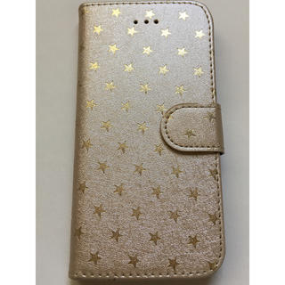 スリーコインズ(3COINS)の☆iPhone6/6Sカバー 星 ゴールド 3コインズ☆新同(iPhoneケース)