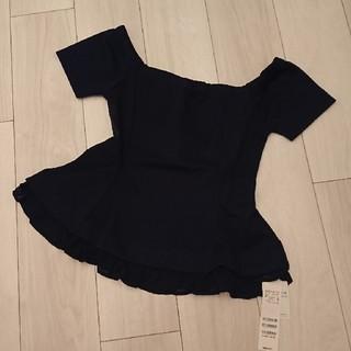 ロイヤルパーティー(ROYAL PARTY)のROYALPARTY裾フリルオフショルダー(カットソー(半袖/袖なし))