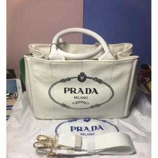 PRADA - 中古 PRADAプラダ カナパ トートバッグ デニム 綺麗