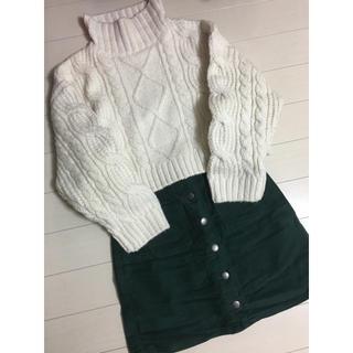 ローリーズファーム(LOWRYS FARM)のLOWRYSFARM♡グリーンスカート(ミニスカート)