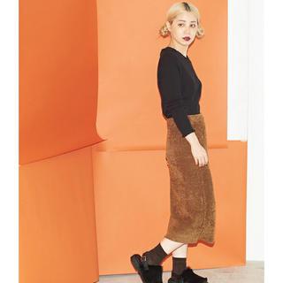 アトリエドゥサボン(l'atelier du savon)の2017AW caph 7GMK-MOLE リブタイトスカート(ひざ丈スカート)