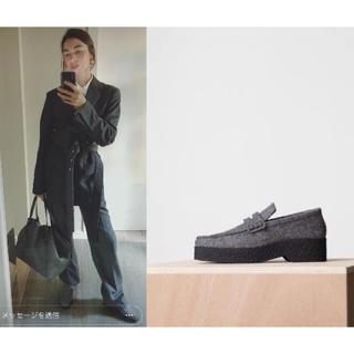 セリーヌ(celine)のCELINE セリーヌ ストラップツィードローファー 国内正規品フィービーグレー(ローファー/革靴)