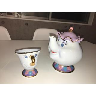 ディズニー(Disney)のDisney ポット夫人 チップ  ティーポットセット 美女と野獣(食器)
