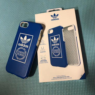 アディダス(adidas)の  1000円値下げ‼️ アディダス スマホケース ブルー(iPhoneケース)