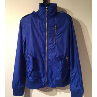 un81様専用 ライダースジャケット ウインドブレーカー Mサイズ 青(ナイロンジャケット)