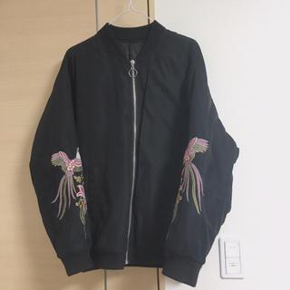 ジーユー(GU)のMA-1 ブルゾン 刺繍(ブルゾン)