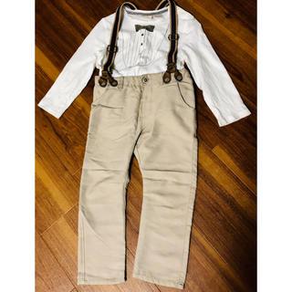 ザラ(ZARA)のZARAbaby. サスペンダー付きズボン&蝶ネクタイシャツ(パンツ/スパッツ)
