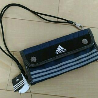 adidas - 新品 アディダス adidas 財布 ウォレット 男の子  ネイビー 長財布