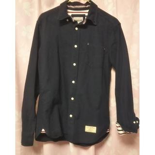 しまむら - メンズ カジュアルシャツ Mサイズ 紺色 VILLAND