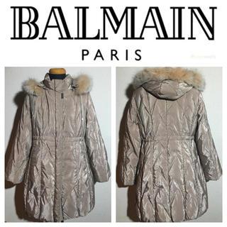 バルマン(BALMAIN)のBALMAIN バルマン フォックスファー レジメンタルステッチ ダウンコート(ダウンコート)