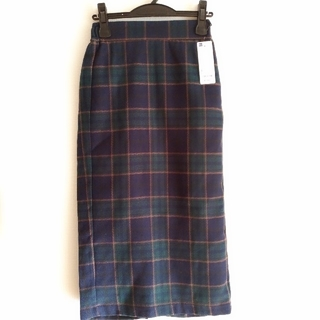 GU - タータンチェックナローミディスカート(S)◆新品タグ付き◆GU
