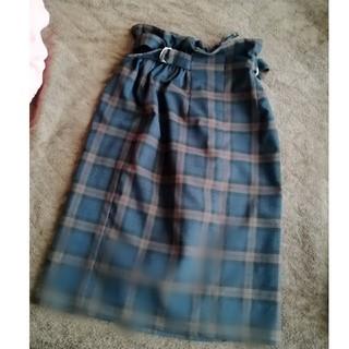ヴィス(ViS)のチェック柄サイドベルトタイトスカート(ひざ丈スカート)