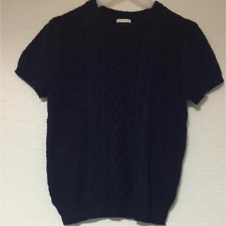 GU - gu紺半袖ニットXL